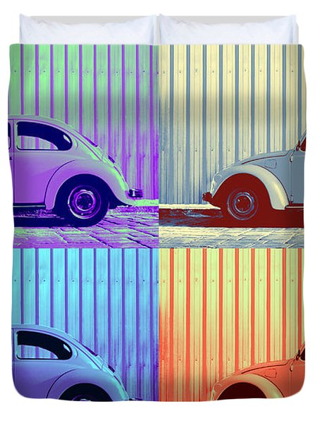 Vw Pop Winter Duvet Cover by Laura Fasulo