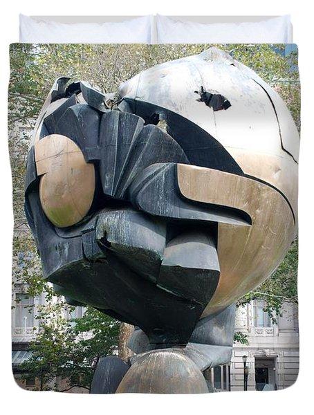 W T C Fountain Sphere Duvet Cover by Rob Hans