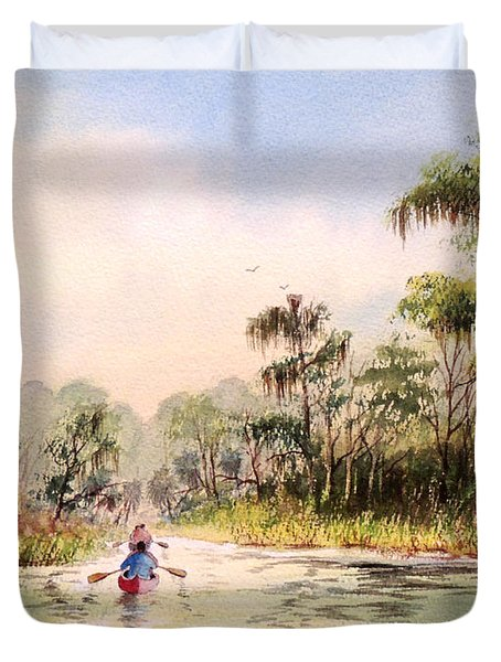 Wacissa River  Duvet Cover by Bill Holkham