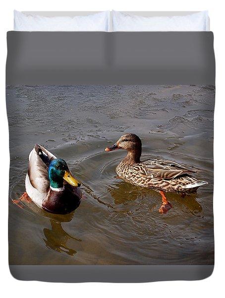 Wading Ducks Duvet Cover