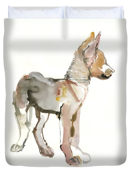 Waggle Arabian Wolf Pup Duvet Cover