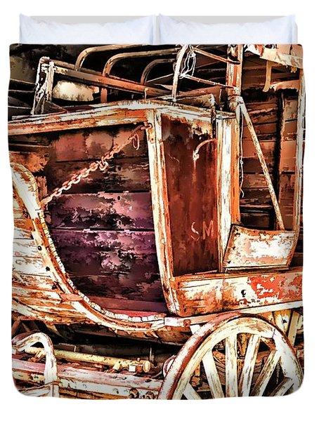 Duvet Cover featuring the painting Wagon by Muhie Kanawati
