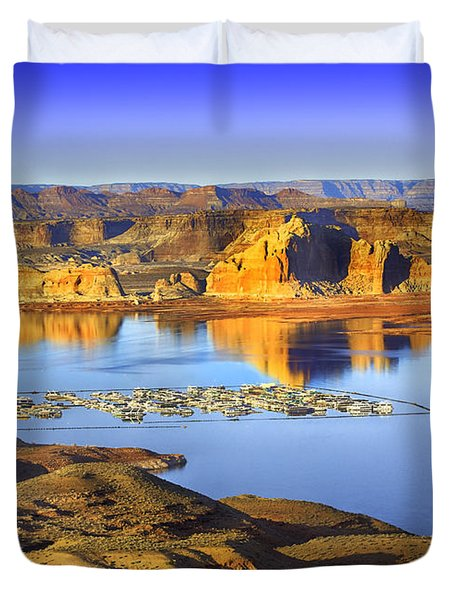 Wahweap Marina Lake Powell Duvet Cover