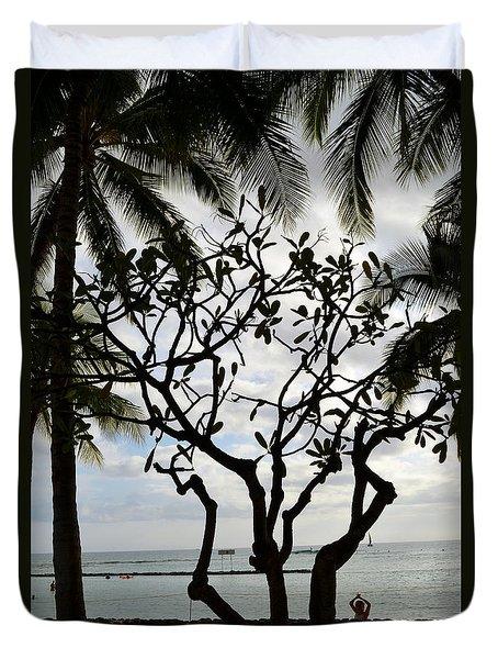 Waikiki Beach Hawaii Duvet Cover by Eva Kaufman