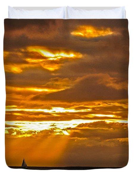 Waikiki Sun Set Duvet Cover