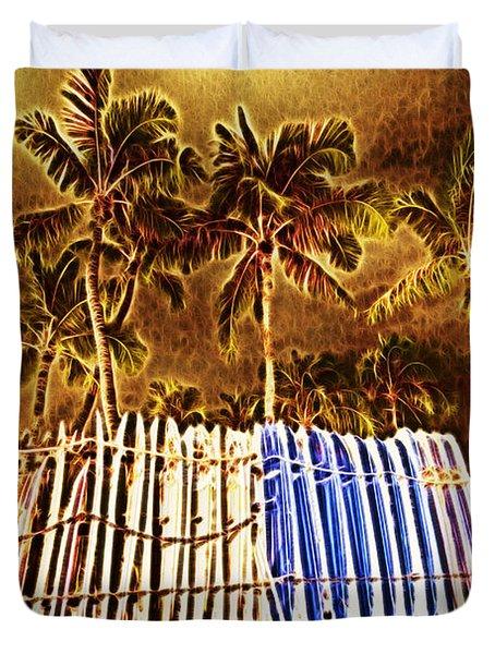 Waikiki Surf- Hawaii Duvet Cover by Douglas Barnard