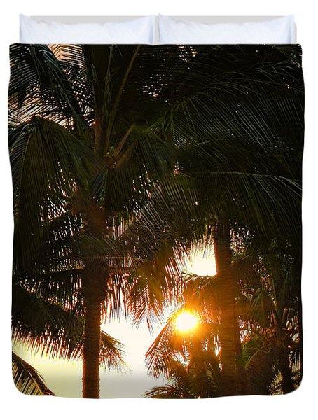 Waikoloa Palms Duvet Cover