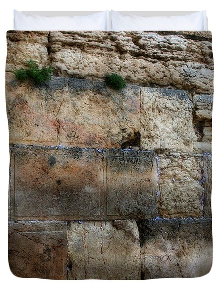 Duvet Cover featuring the photograph Wailing Wall In Israel by Doc Braham