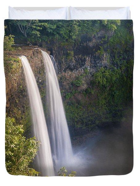 Wailua Falls - Kauai Hawaii Duvet Cover by Brian Harig