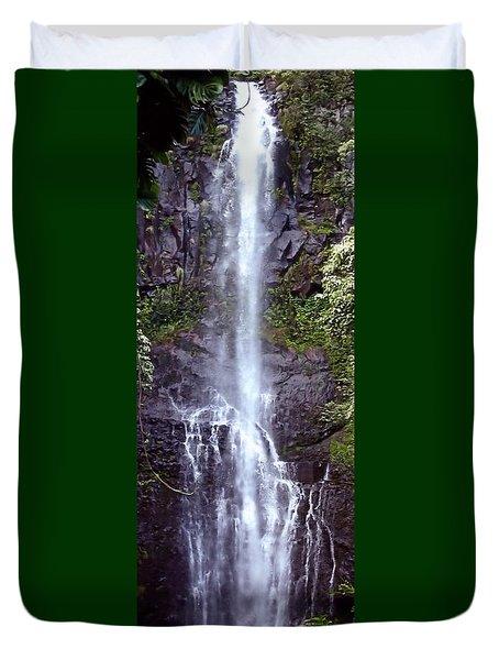 Wailua Falls Maui Hawaii Duvet Cover
