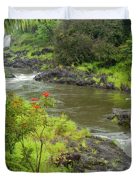 Wailuka River Duvet Cover by Bob Phillips