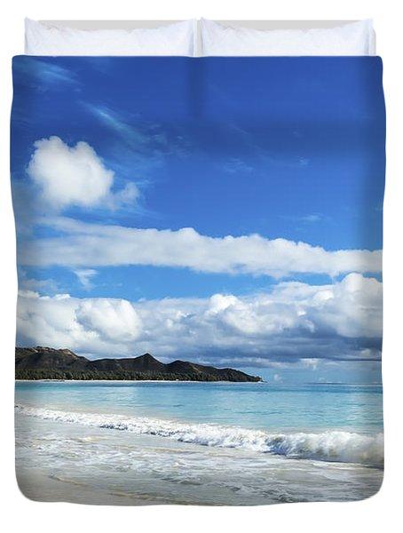 Waimanalo And Bellows Beach 1 Duvet Cover by Leigh Anne Meeks