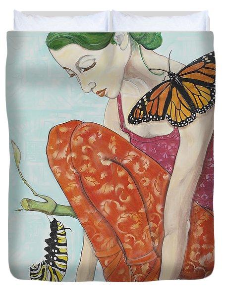 Wait For It Duvet Cover by Darlene Graeser