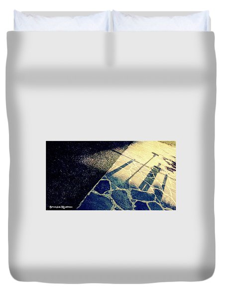 Duvet Cover featuring the photograph Wait In The Shade by Stwayne Keubrick