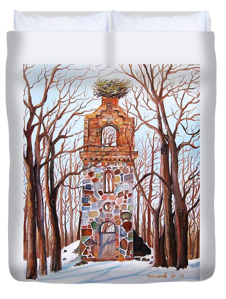 Waiting At Church Ruins  Duvet Cover