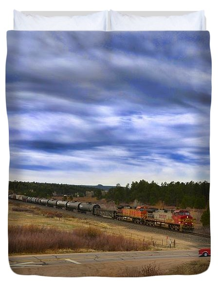 Waiting At The Gates Version 2 Duvet Cover by Ken Smith