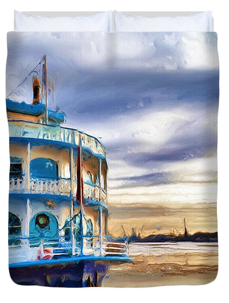 Waiting Duvet Cover by Ayse Deniz