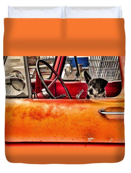 Waiting For Criminals Duvet Cover by Patricia Greer