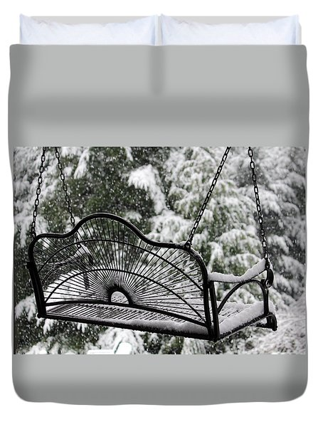 Duvet Cover featuring the photograph Waiting For Spring by Katie Wing Vigil