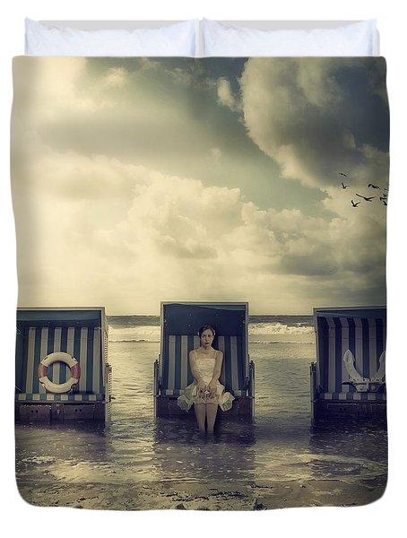 Waiting For The Flood Duvet Cover by Joana Kruse