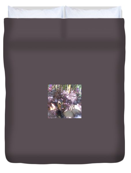 Waiting For The Others Duvet Cover by Barbara McDevitt