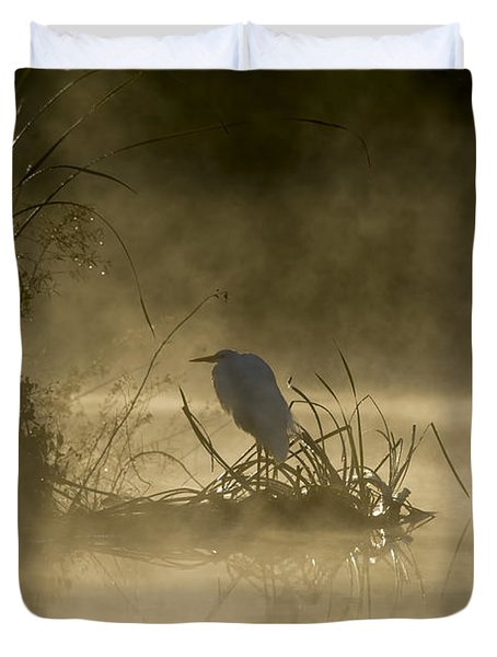 Duvet Cover featuring the photograph Waiting For The Sun by Steven Sparks