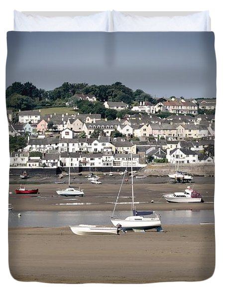 Waiting For The Tide Duvet Cover by Pennie  McCracken
