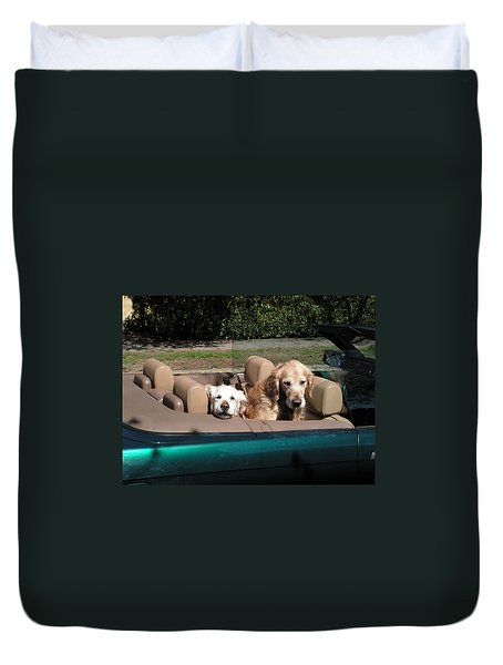 Duvet Cover featuring the photograph Waiting Patiently by Cheryl Hoyle