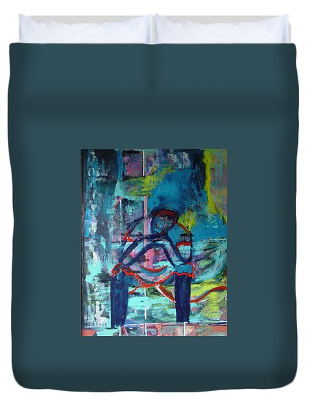 Waiting Duvet Cover by Peggy  Blood