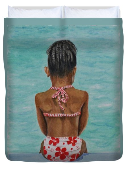 Waiting To Swim Duvet Cover