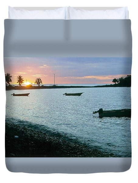 Waitukubuli Sunset Duvet Cover