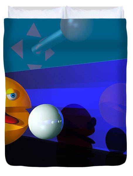Duvet Cover featuring the digital art Waka Waka Waka by Tony Cooper