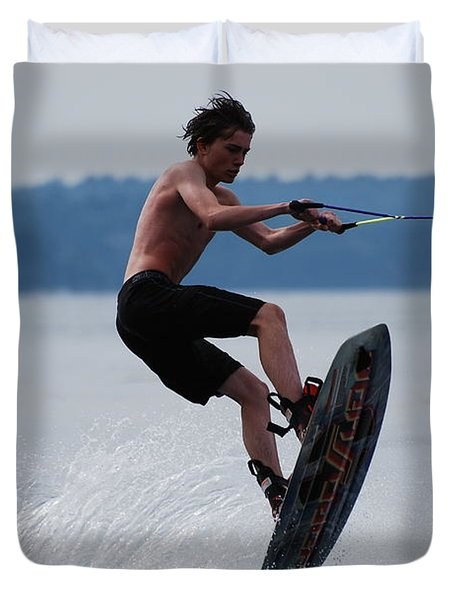 Wakeboarder Duvet Cover