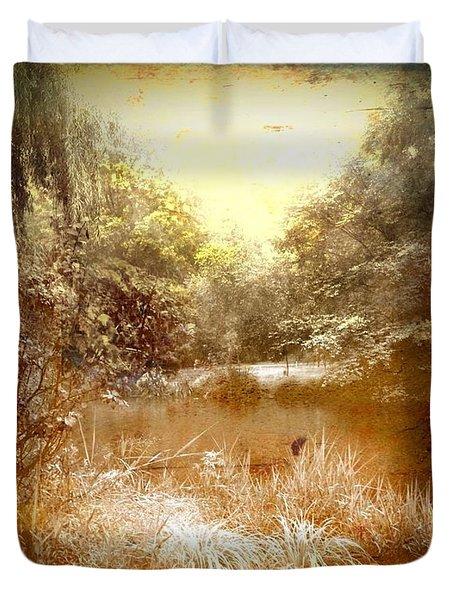 Walden Pond In Pennsylvania Duvet Cover