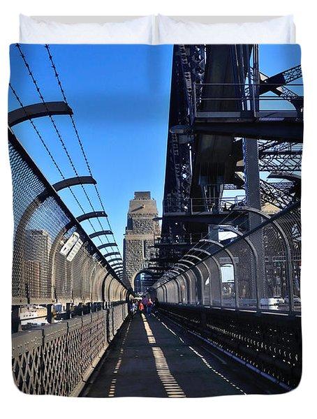 Walk Across Sydney Harbour Bridge Duvet Cover by Kaye Menner
