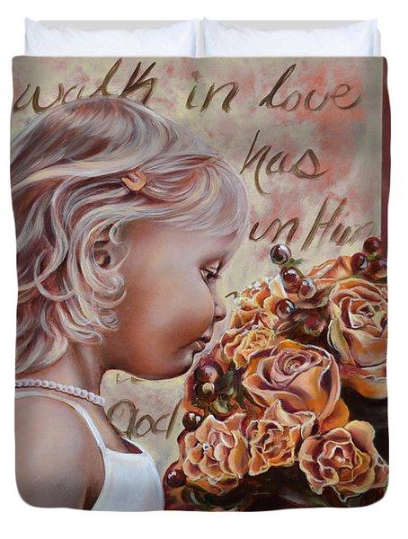 Walk In Love Duvet Cover