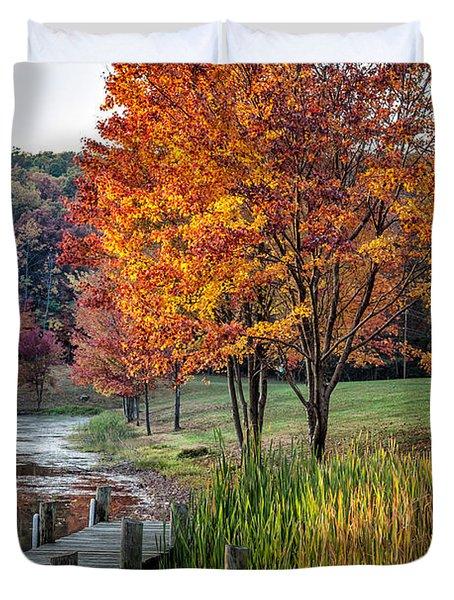 Walk Into Fall Duvet Cover