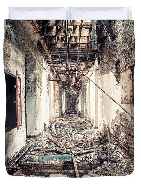 Walk Of Death - Abandoned Asylum Duvet Cover by Gary Heller