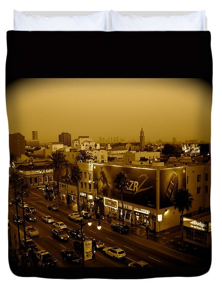 Walk Of Fame Hollywood In Sepia Duvet Cover