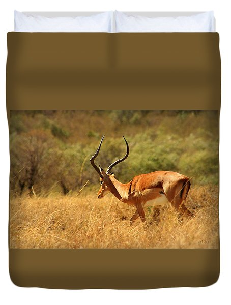 Walk Of The Antelope Duvet Cover