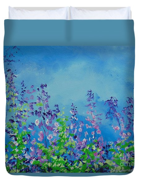 Walk Out Into The Fields Duvet Cover