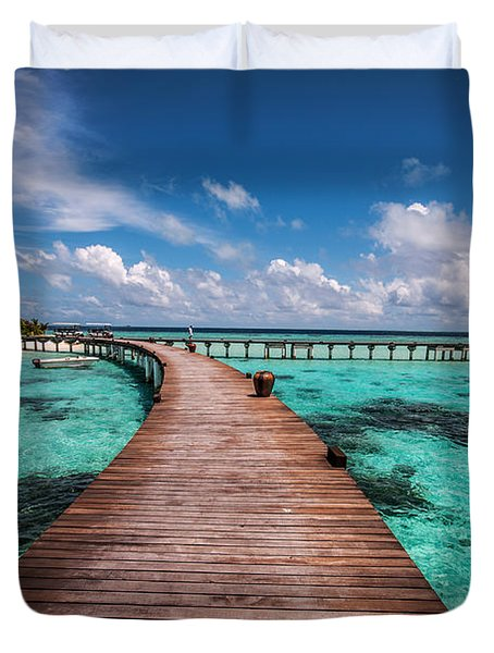 Walk Over The Water Duvet Cover