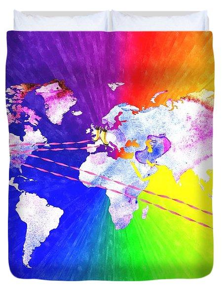 Walk The World Duvet Cover by Daniel Janda