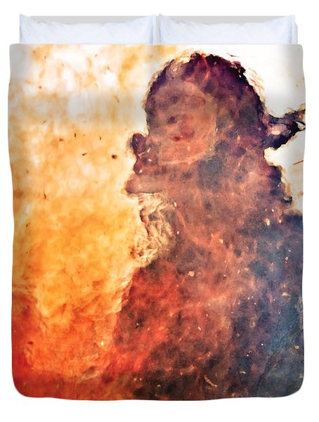 Walk Through Hell Duvet Cover