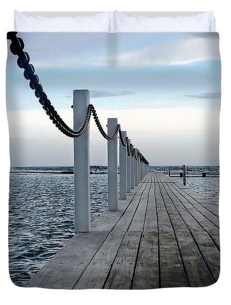 Walk To The Ocean Duvet Cover by Kaye Menner