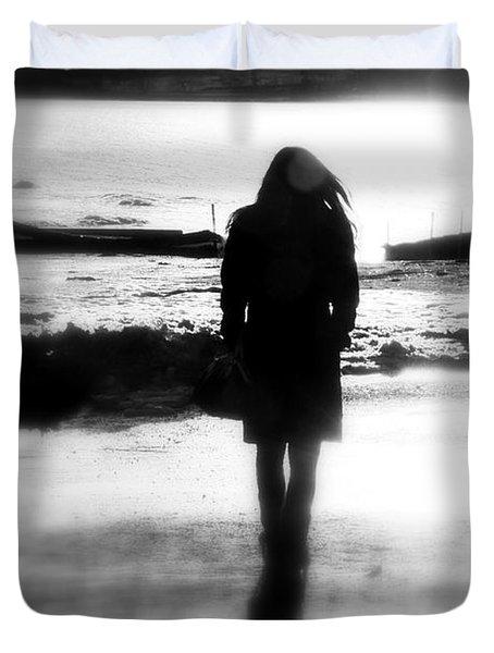 Walking Alone Duvet Cover by Valentino Visentini