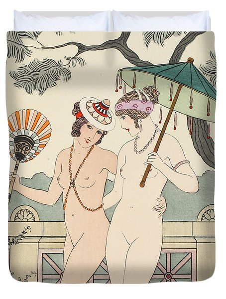 Walking Around Naked As Much As We Can Duvet Cover by Joseph Kuhn-Regnier