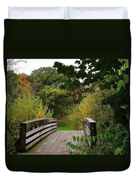 Walking Bridge Duvet Cover