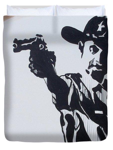 Walking Dead Rick Shoots Duvet Cover by Marisela Mungia