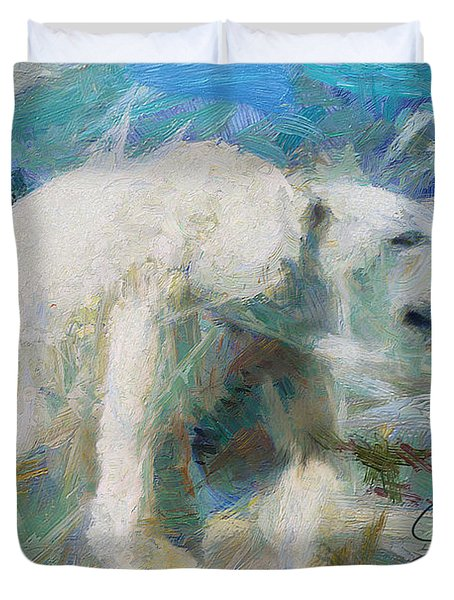 Cold As Ice Duvet Cover by Greg Collins